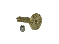 wall bolt M8, survey point, forged from brass