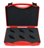 transport case for monitoring equipment, 6 notches