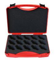 transport case for monitoring equipment, 15 notches