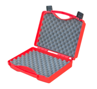 Universal transport case, red, diff. bubble foam thicknesses