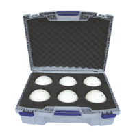 "set: laserscan. spheres ""standard"" Ø145 mm in transport case"