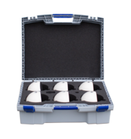 Scan sphere set, 6 flex segment balls, in transport case